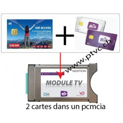 PCMCIA Viaccess sicuro pronto, per scheda di sataccess svizzero e Dual BIS READY Cardless