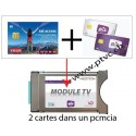 PCMCIA Viaccess secure ready, for Swiss Sataccess card and dual BIS READY Cardless