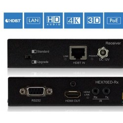 HDBaseT HD receiver / 4K / PoH
