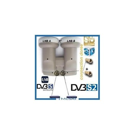 monobloc LNB hot bird 13, and Astra 19, 2 user, 2 decoders double series, HDtv / UHD / 4 K