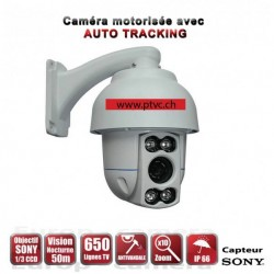 Video surveillance motorized AUTO TRACKING PTZ camera