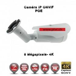 TUBE IP ANTI-VANDAL IR 40 M ONVIF SONY 4K UHD 8 MegaPixels