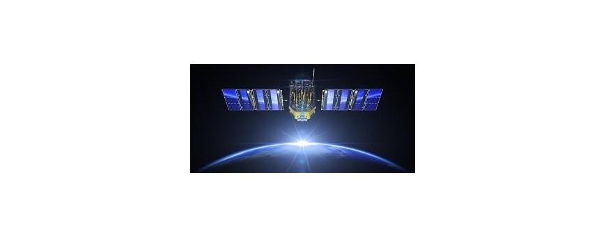 Antena satelital, parábola de la antena de recepción vía satélite, antena parabólica para recibir Atlantic Bird