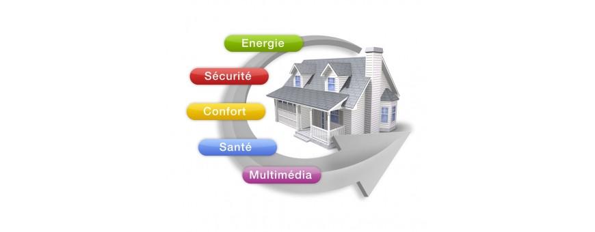 Domotique, maison connecte, alarme, automatisation, matrice